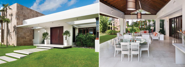 Casa dg for Jardines de casas quintas