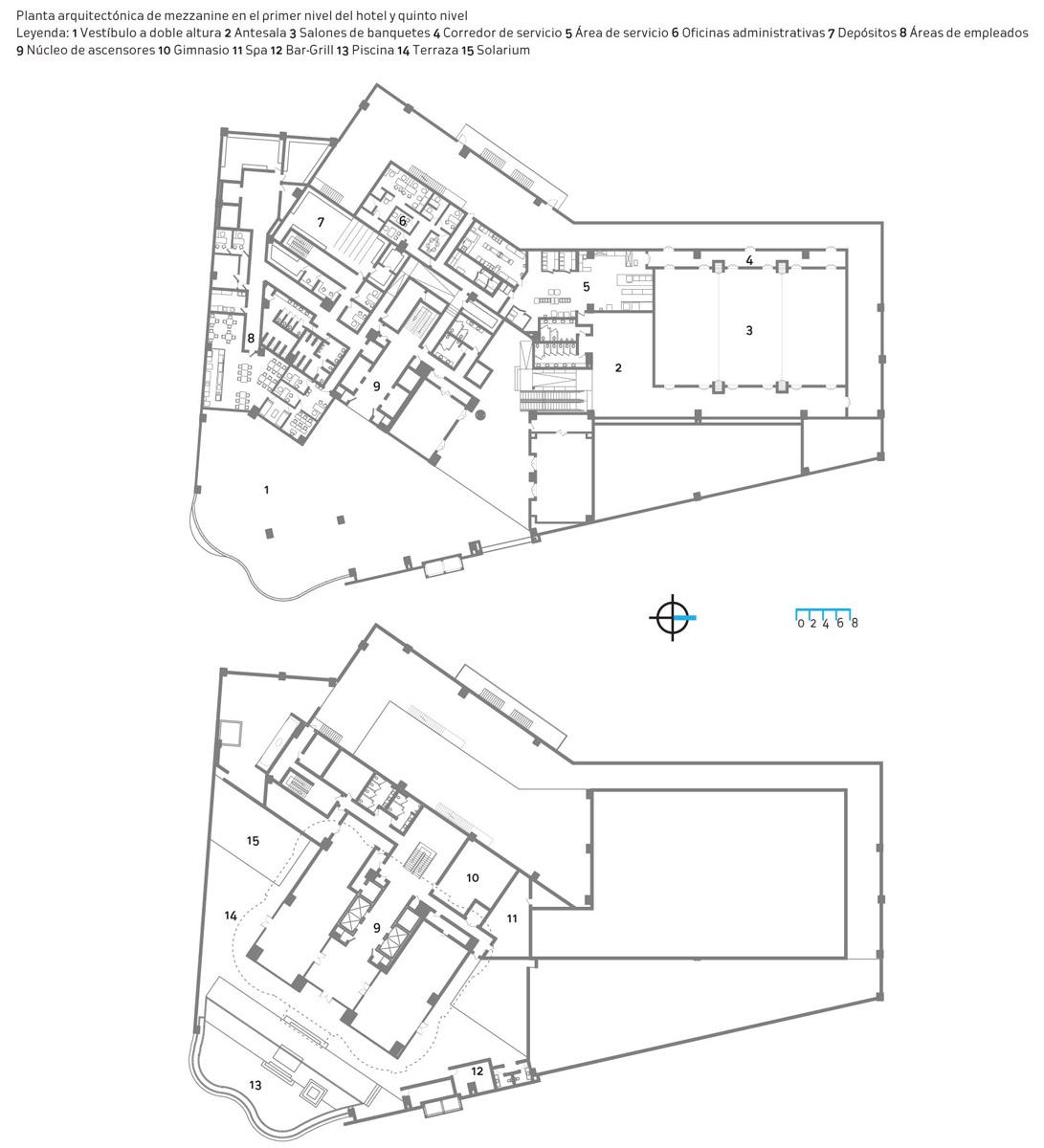 Embassy suites by hilton for Planta arquitectonica biblioteca