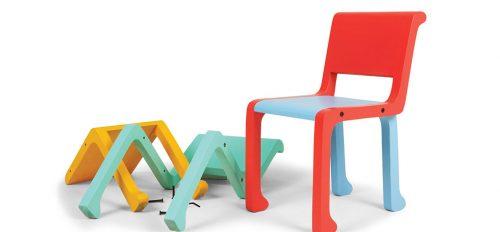 FURF (BRASIL). Silla Tom Tom, se puede crear un centenar de combinaciones de acuerdo con la creatividad de los niños