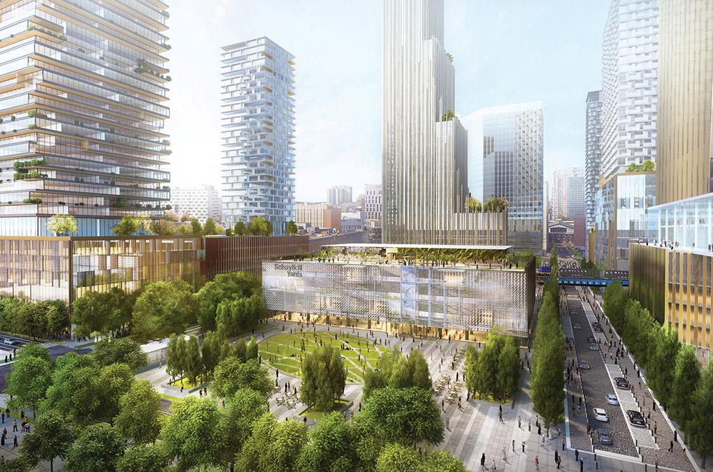 FILADELFIA. Proyecto Schuylkill Yards. Imagen cortesía de SHoP Architects